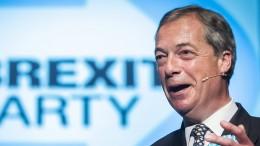 Brexit-Partei verpasst knapp erstmaligen Einzug ins Parlament