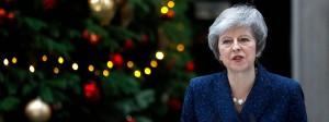 Gibt nicht auf: Theresa May am Mittwochmorgen in der Londoner Downing Street.