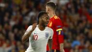 Landete gegen Spanien einen Doppelpack: Englands Raheem Sterling.
