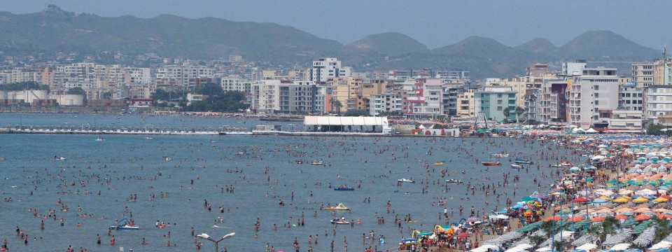 Der Strand von Durrës