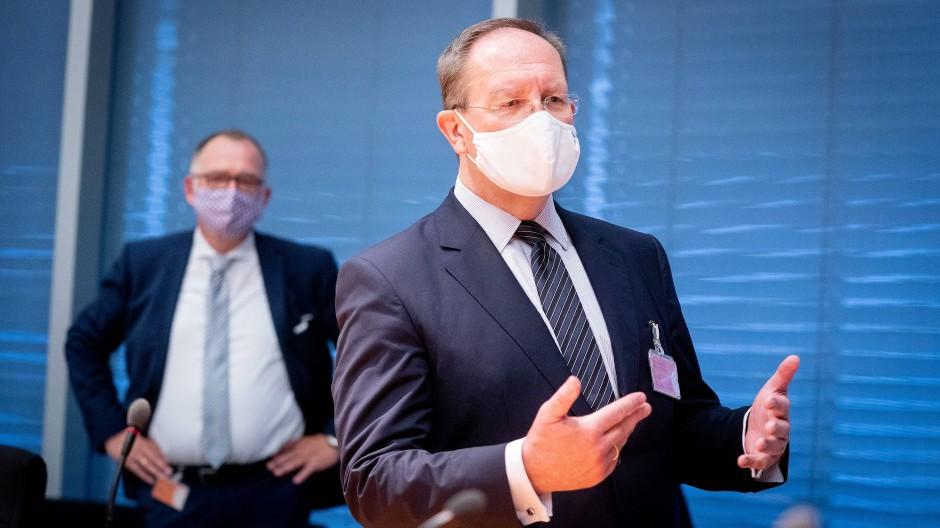 Bafin-Chef Felix Hufeld bei einer Sondersitzung des Finanzausschusses Anfang September