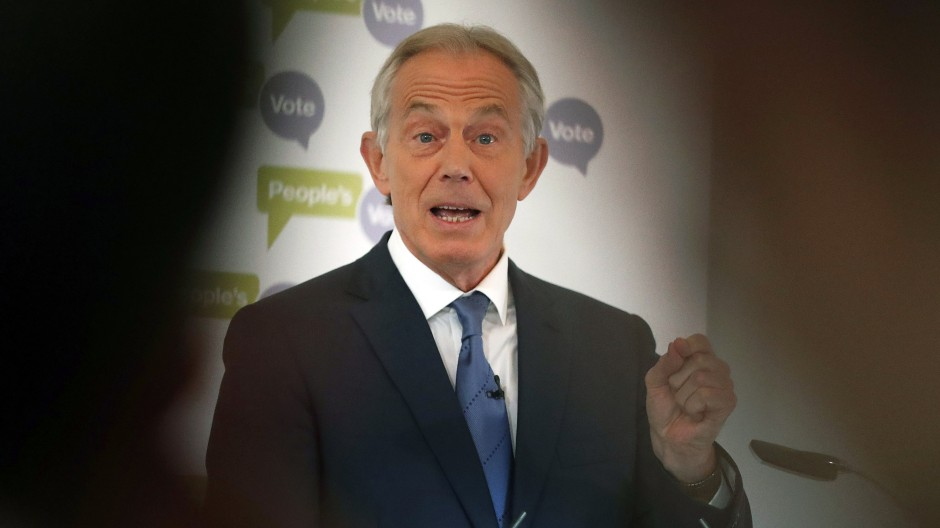 Was, ich? Tony Blair im Jahr 2018 während einer Rede in London.