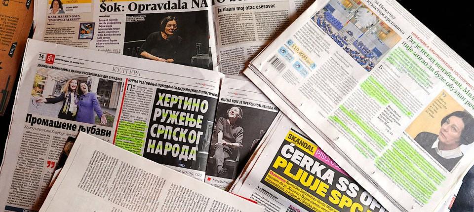 Nobelpreisträgerin In Belgrad Proteststurm Gegen Herta Müller