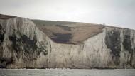 """Harte Grenze: Die """"White Cliffs"""" von Dover."""
