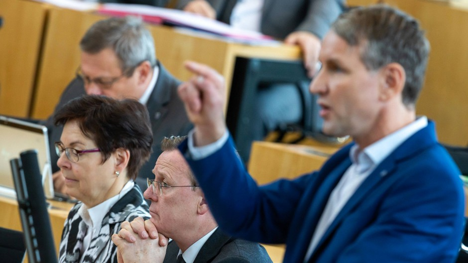 Schließt auch Hans-Georg Maaßen als Gegenkandidaten nicht aus: AfD-Fraktionschef Björn Höcke