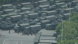 Übung chinesischer Truppen an der Grenze zu Hongkong