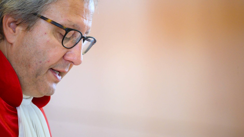 Bundesverfassungsgerichtspräsident Andreas Voßkuhle bei der Urteilsverkündung im EZB-Verfahren am 5. Mai 2020.