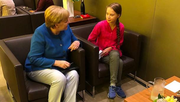 Merkel trifft sich mit Greta Thunberg und Luisa Neubauer