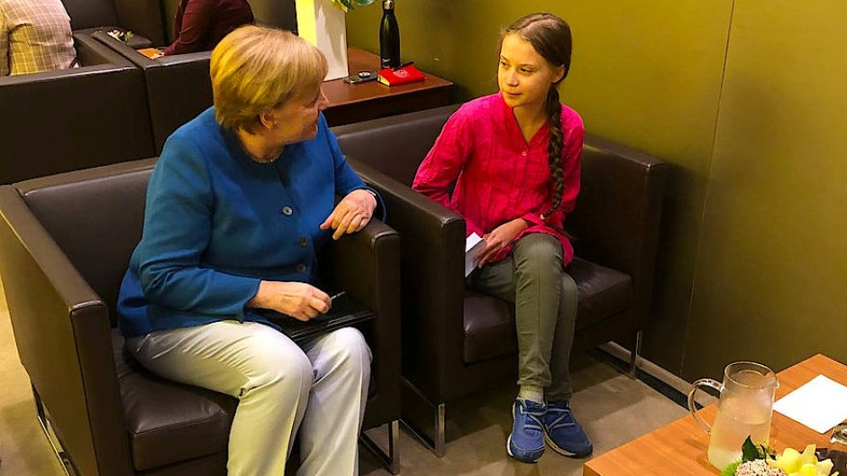 Kanzlerin Angela Merkel und Klimaaktivistin Greta Thunberg im September 2019 in New York