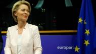 Ursula von der Leyen bei einem Treffen mit den europäischen Christdemokraten am 3. Juli in Straßburg
