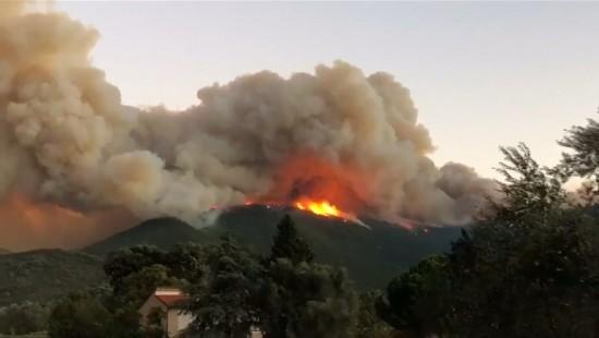 Heftige Waldbrände bei Siena