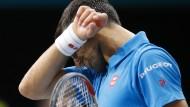 Zum Wegsehen: Novak Djokovic steckt in einer Formkrise
