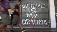 Graffiti in Athen: Wo ist meine Drachme?