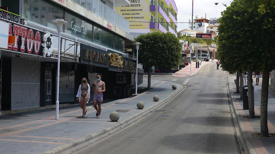 Nur noch vereinzelt Touristen: Auf Mallorca rechnet auch zu Jahresbeginn niemand damit, dass die Urlauber bald in größerer Zahl zurückkehren.