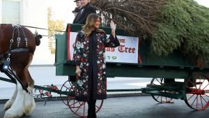 Melania Trump empfängt Weihnachtsbaum