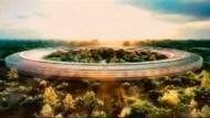 Die neuen Zentralen der Informationsmacht sind größer als das Pentagon: Im Hauptquartier von Apple (hier der Entwurf) sollen bald weit über 10.000 Menschen arbeiten.