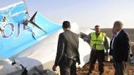 Das Flugzeugwrack des Airbus A321 in der Sinai-Halbinsel: 224 Menschen wurden getötet, darunter 17 Kinder.