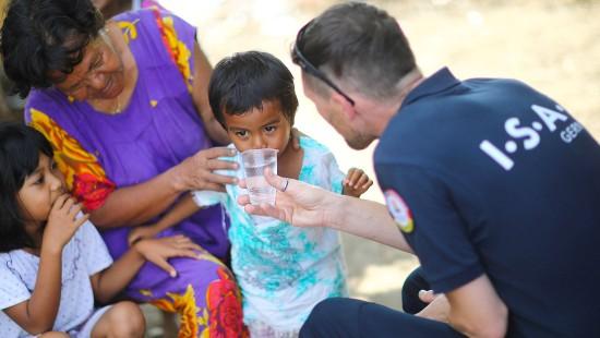 Sauberes Trinkwasser im Erdbebengebiet