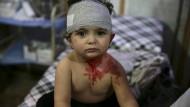 Im Hospital der Rebellen werden Kinder und Kämpfer nebeneinander behandelt.