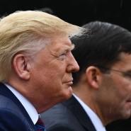 Präsident Donald Trump und Verteidigungsminister Mark Esper im September in VIrginia