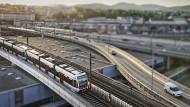 17,4 Kilometer verkehrt die U6 oberirdisch. Im Sommer heizen die Züge deshalb schnell auf.
