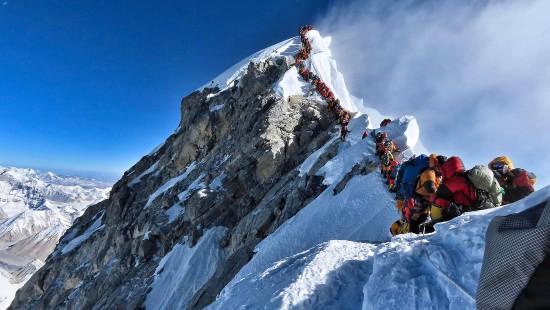 Stau auf dem Mount Everest
