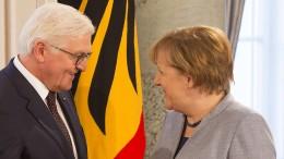 Steinmeier schlägt Merkel offiziell als Kanzlerin vor