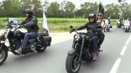 Harley-Parade an der Côte d' Azur