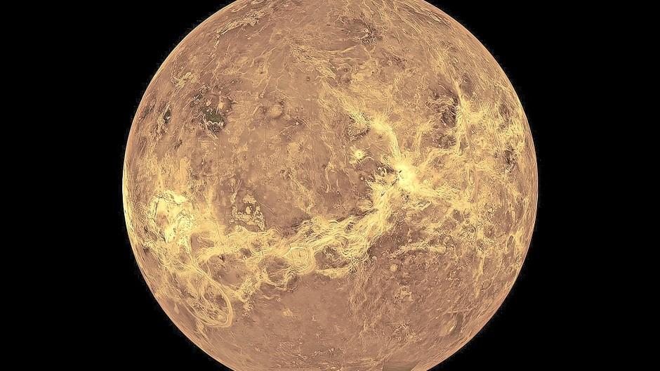 Planet der offenen Fragen: Aufnahme der Venus aus Daten der Magellan-Sonde und des Pioneer Venus Orbiter