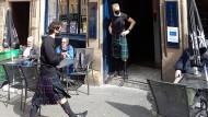 Die ersten Gäste sind zurück: Ein Lokal in Edinburgh