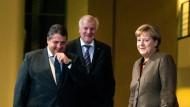 Auch Anfang November trafen die drei Parteispitzen sich schon zu einem Krisentreffen im Kanzleramt – wie es mit der Harmonie danach weiterging, ist bekannt.