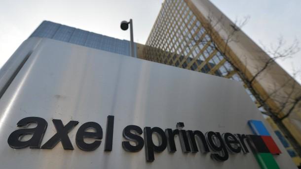 Umbau drückt Gewinn bei Axel Springer
