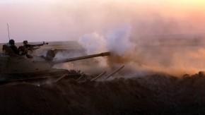 Kurdische Peschmerga im Kampf gegen IS-Truppen