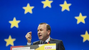 Manfred Weber wirbt für eine sozialere EU