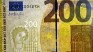 Seriennummer einer 200-Euro-Banknote