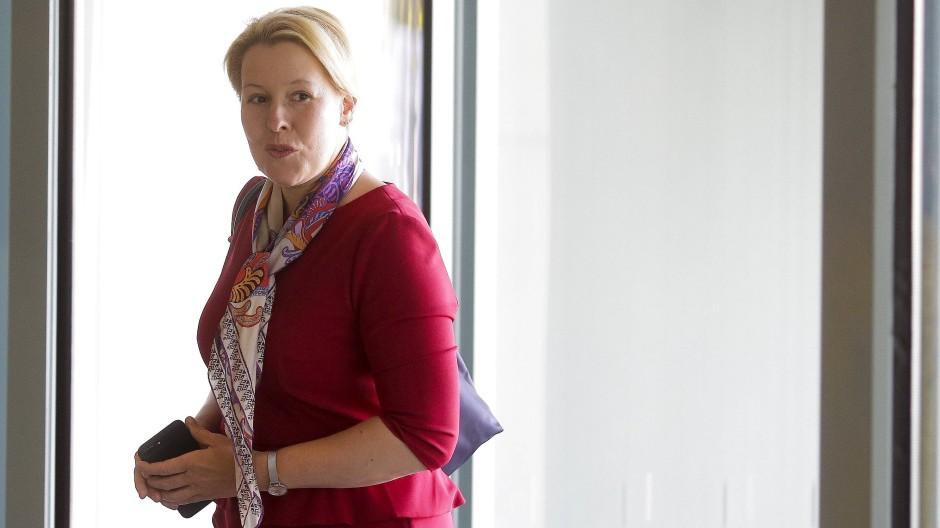 Zielbewusste Doktorandin: Bundesfamilienministerin Franziska Giffey