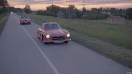 Mit einem 57er Mercedes 300 SL auf der Mille Miglia
