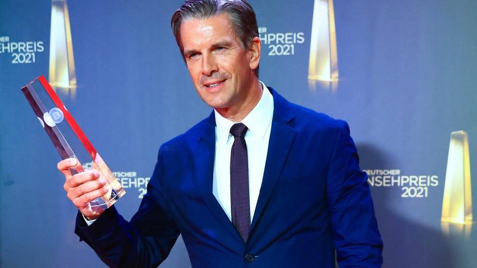 Markus Lanz nach der Verleihung des Deutschen Fernsehpreises 2021