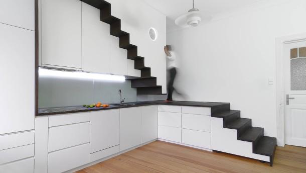 Treppen architektur einfamilienhaus  Wie Bauherren die Treppe geschickt in den Grundriss integrieren