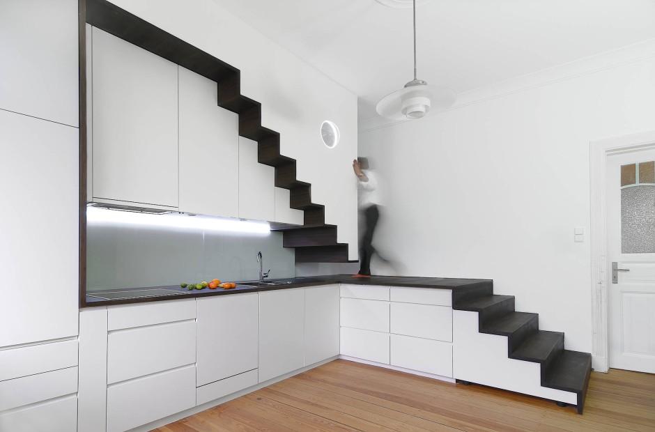 bilderstrecke zu wie bauherren die treppe geschickt in. Black Bedroom Furniture Sets. Home Design Ideas