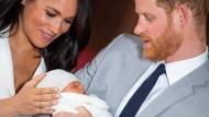 Prinz Harry und Herzogin Meghan mit ihrem Sohn Archie