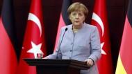Angela Merkel bei einem Besuch in Ankara