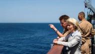 Auf der Suche nach Migrantenbooten