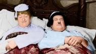"""Über Laurel und Hardy, hier in """"Hände hoch – oder nicht"""", darf man immer lachen."""