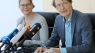 SPD-Politiker Nina Scheer und Karl Lauterbach am Donnerstag in Berlin