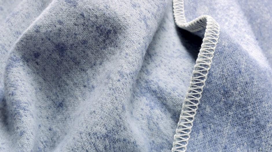 Diese Decke war einmal eine Jeans.