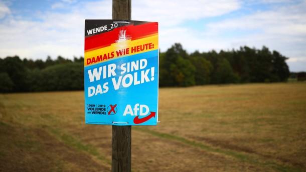 AfD wird in Ostdeutschland stärker