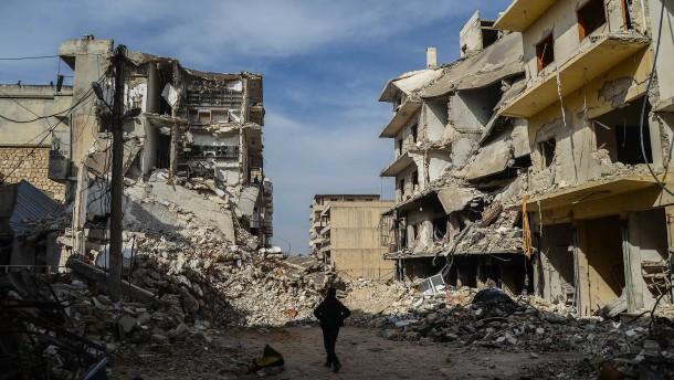 Idlib liegt in Trümmern