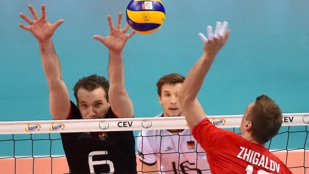 Deutsche Volleyballer verlieren knapp gegen Russland