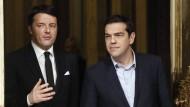 Tsipras wirbt in Rom für lockere Sparpolitik